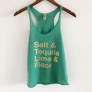 Alternative Earth Green Tequila Graphic Tank Top S